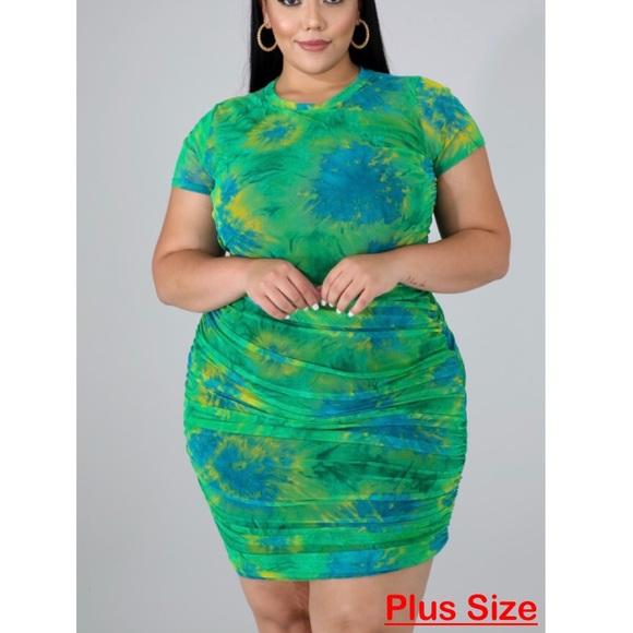 Tie Dye dress (plus size)